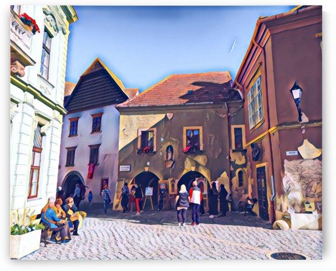 Kolostor Street by Ferenc Lengyel