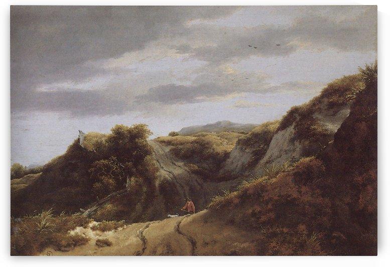 Ruins in a Dune Landscape by Jacob Van Ruisdael