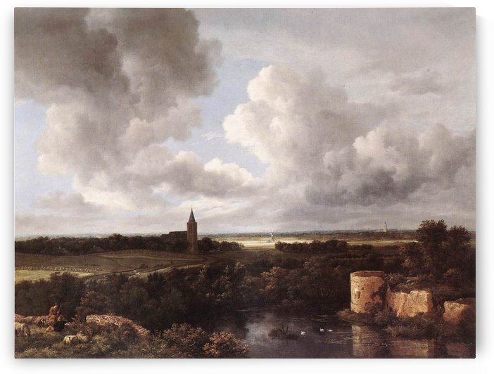 An Extensive Landscape with Ruins by Jacob Van Ruisdael