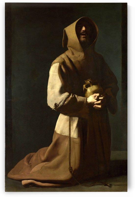 Saint Francis in Meditation by Francisco de Zurbaran