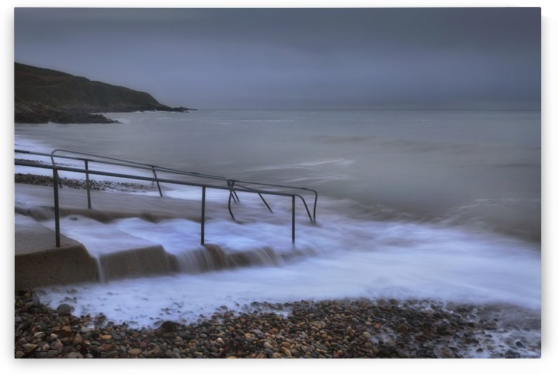 A grey morning at Langland Bay. by Leighton Collins