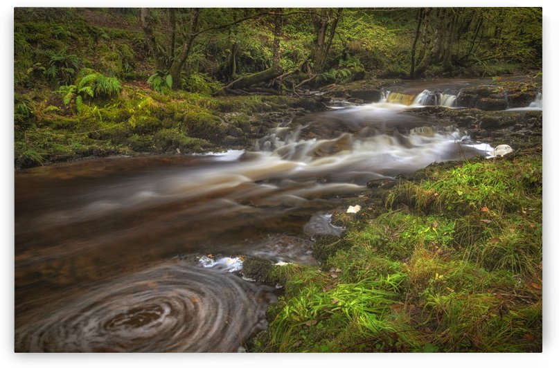 A small cascade on the Afon Pyrddin River by Leighton Collins