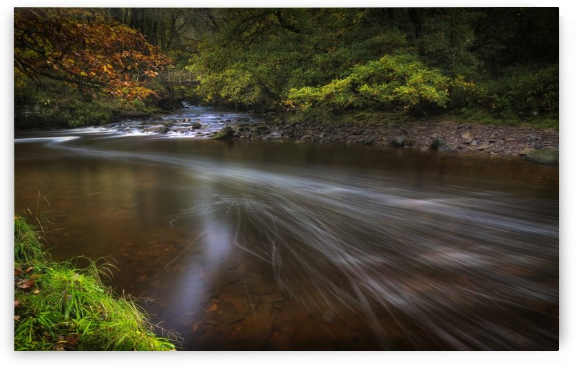 The Afon Pyrddin River by Leighton Collins