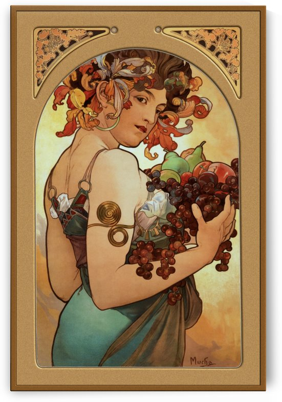 Fruit by Alphonse Mucha by xzendor7