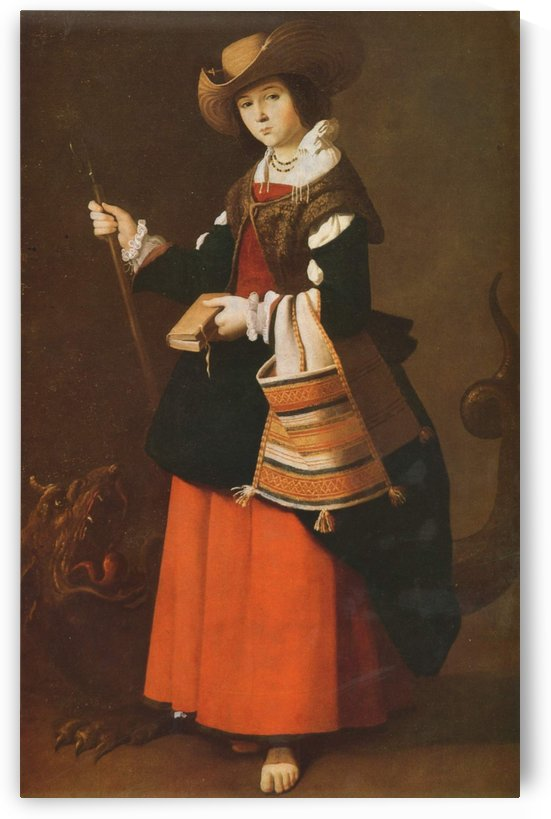 Saint Margaret, dressed as a shepherdess by Francisco de Zurbaran