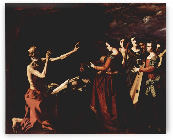 The temptation of St. Jerome by Francisco de Zurbaran
