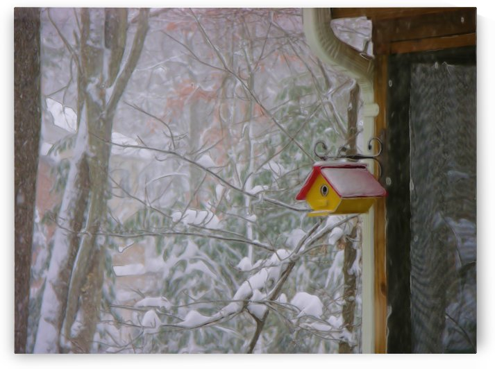 Bird House In Snow Photograph by Katherine Lindsey Photography