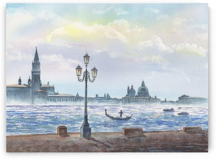 Basilica Di San Giorgio Maggiore And Santa Maria Della Salute Venice Italy by Irina Sztukowski