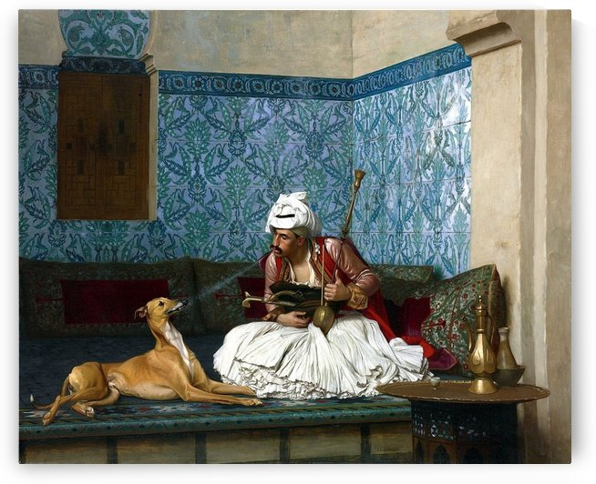 Arnaut and his dog by Jean-Leon Gerome