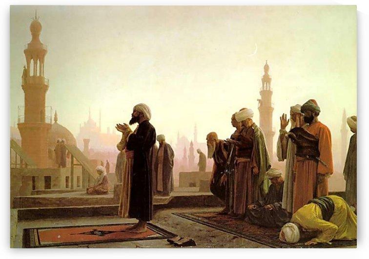 La priere au caire by Jean-Leon Gerome