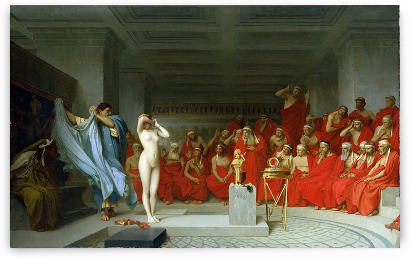 Phryne revealed before the Areopagus by Jean-Leon Gerome