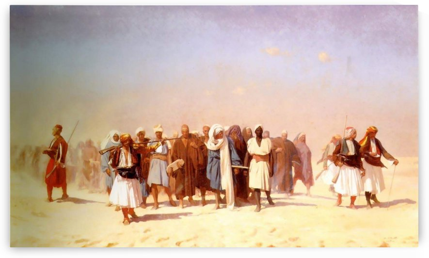 Egyptian Recruits Crossing the Desert by Jean-Leon Gerome