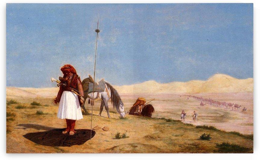 Prayer in the desert by Jean-Leon Gerome