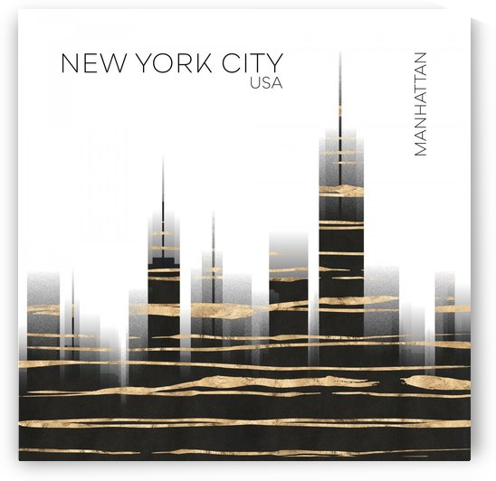 Urban Art NYC Skyline by Melanie Viola