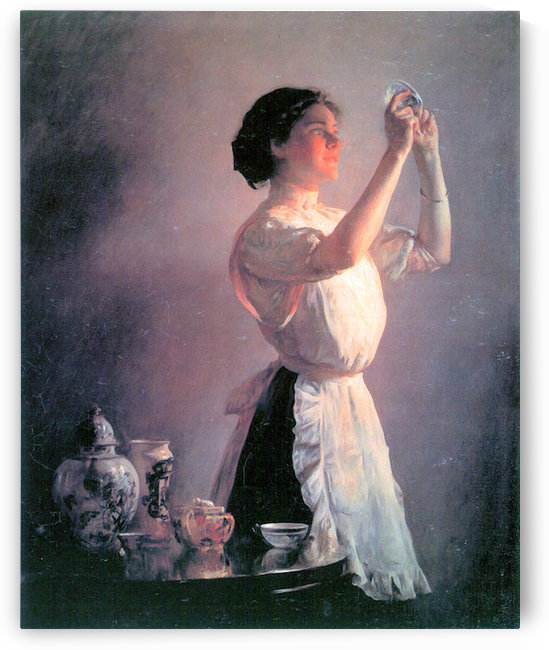 The blue cup by Joseph DeCamp by Joseph DeCamp