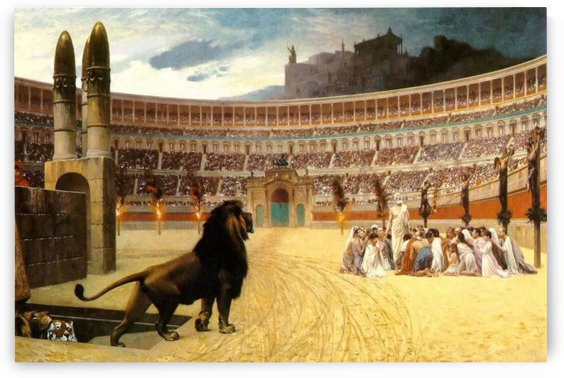 The Christian Martyrs Last Prayer by Jean-Leon Gerome