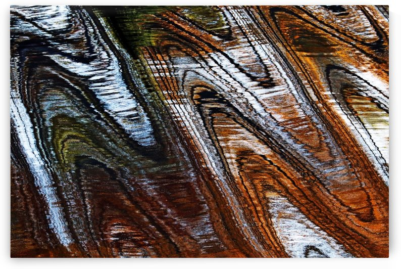 Zigging And Zagging Abstract by Deb Oppermann