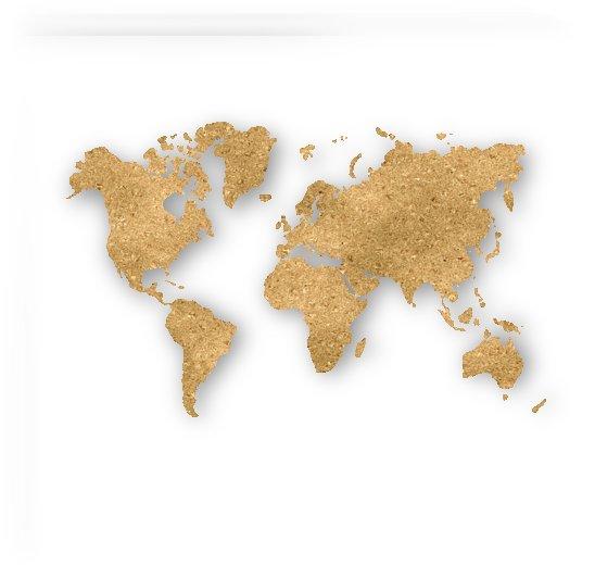 GOLD GLITTER WORLD MAP by rizu_designs