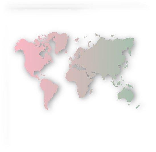 ROSE & GREEN WORLD MAP by rizu_designs