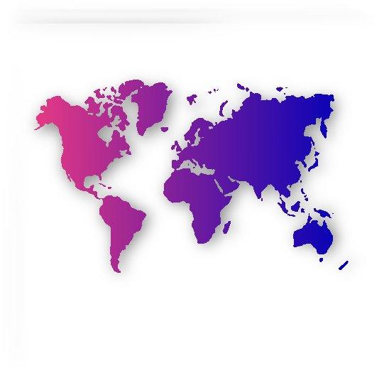 PURPLE GRADIENT WORLD MAP by rizu_designs