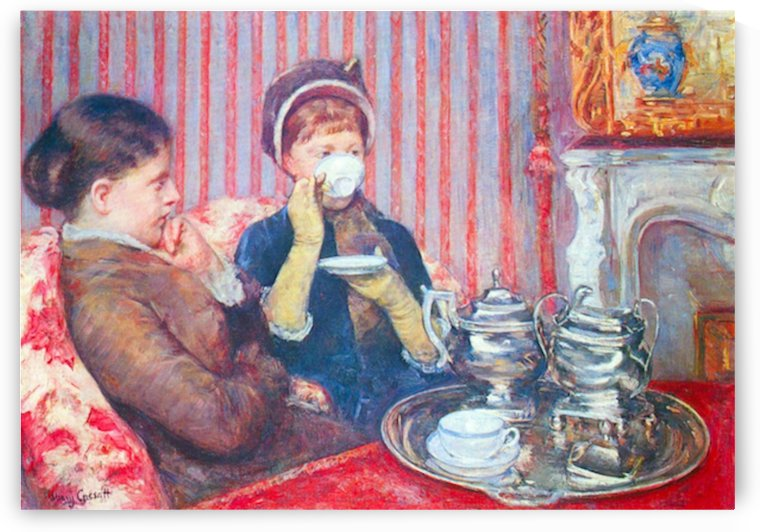 A cup of tea 2 by Cassatt by Cassatt