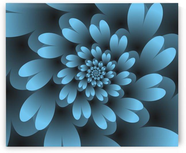 Blue Floral Satin Wallpaper by rizu_designs