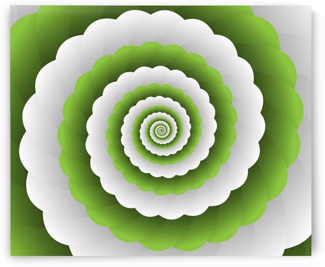 Green Modern Floral Interior Design by rizu_designs