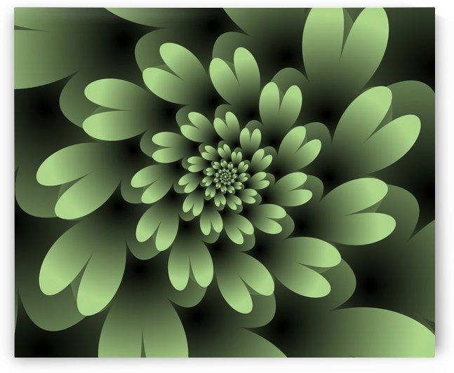 Green Floral Satin Wallpaper by rizu_designs