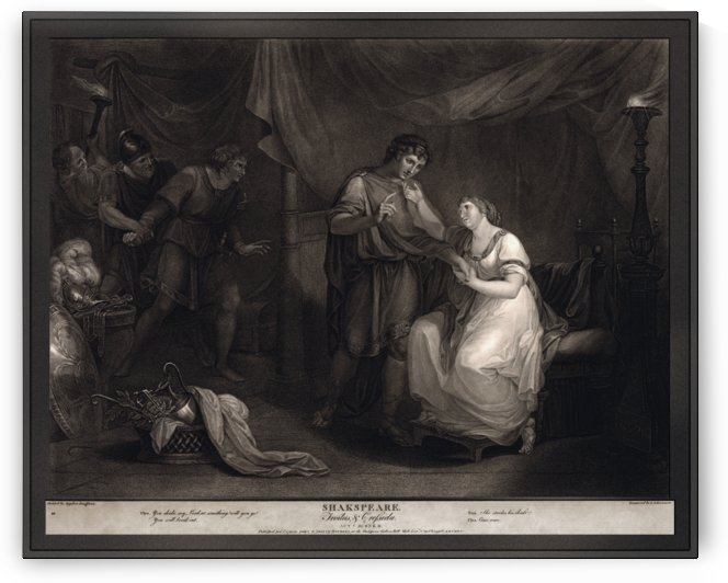 A Scene from Troilus and Cressid by Angelika Kauffmann and engraver Luigi Schiavonetti by xzendor7