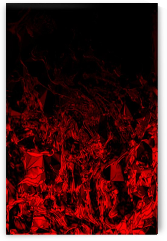 Red Nite - black red gradient polygon abstract swirls by Jaycrave Designs