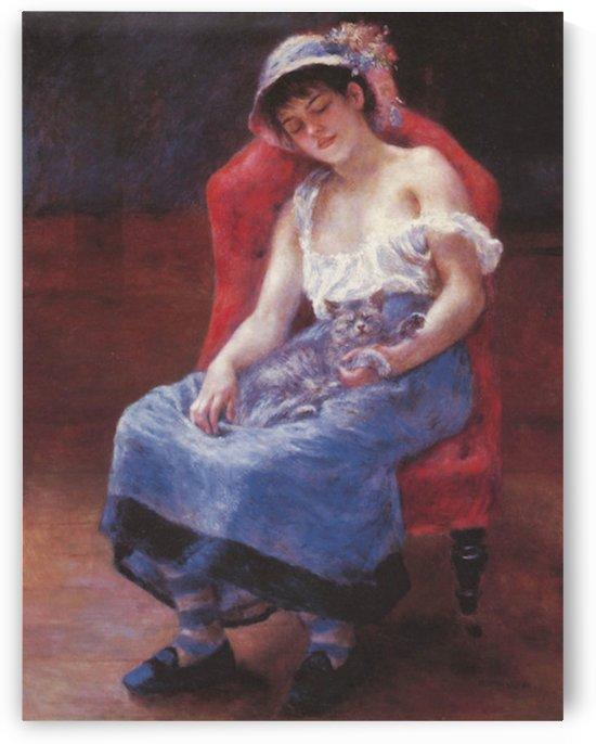 A girl asleep by Renoir by Renoir