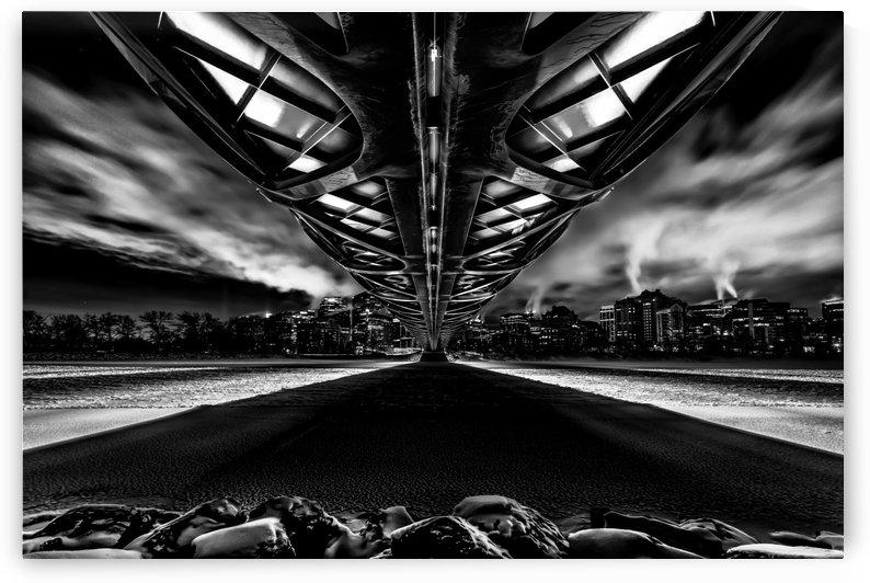 Peace Bridge bnw by Santo Jin Photography