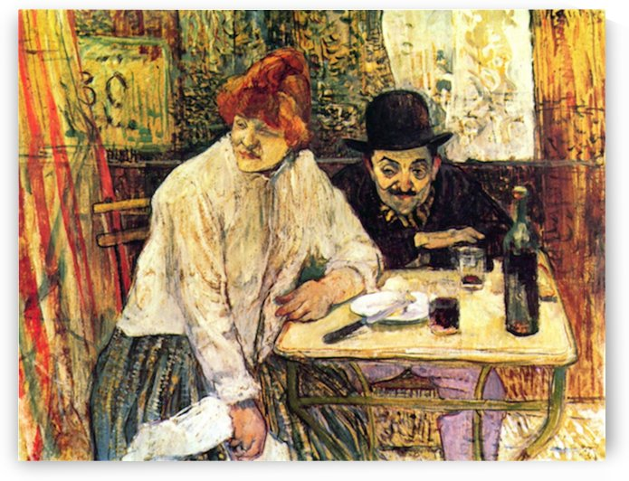 A la Mie in the Restaurant by Toulouse-Lautrec by Toulouse-Lautrec