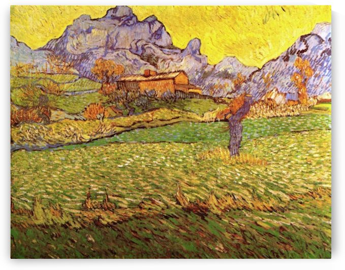 A Meadow in the Mountains Le Mas de Saint-Paul by Van Gogh by Van Gogh
