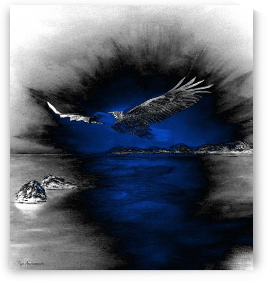 Silver Night Eagle by Faye Anastasopoulou