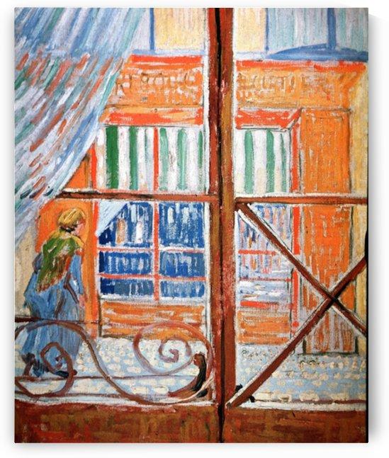 A Pork-Butchers Shop Seen from a Window by Van Gogh by Van Gogh