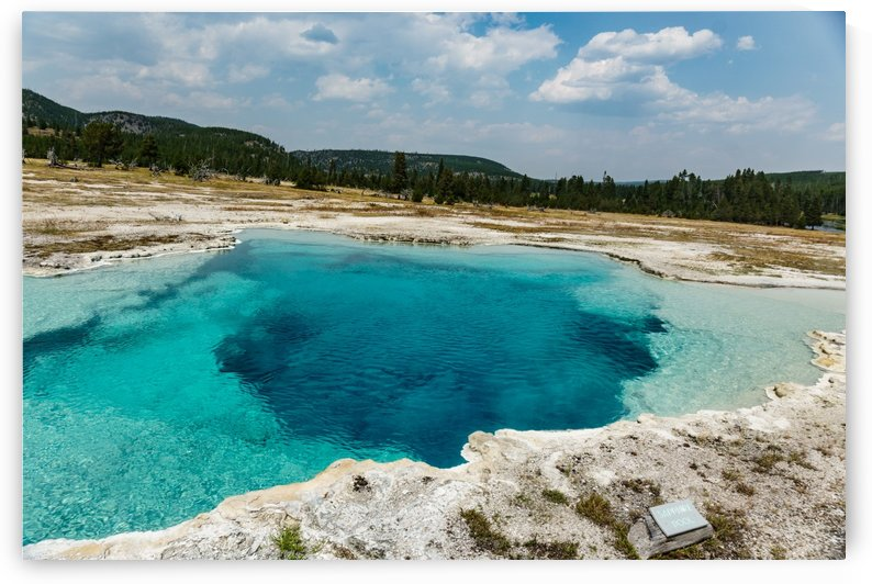 Yellowstone National Park Hot Spring by Sandy Turner