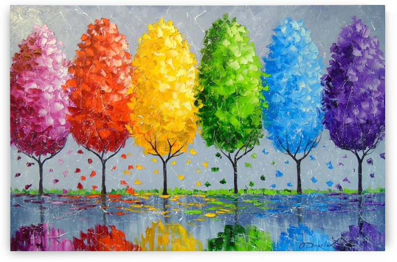 Each tree is individually by Olha Darchuk