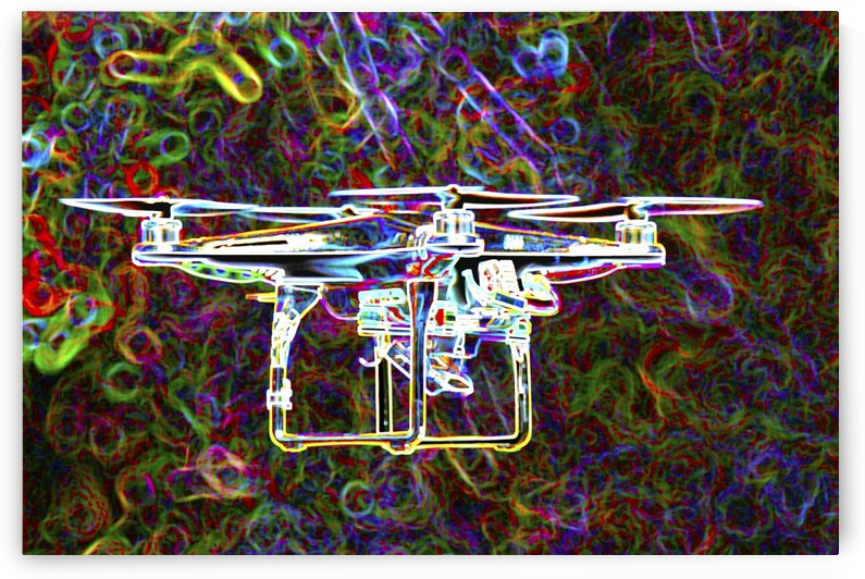 Colorful Quad Copter by Connie Maher