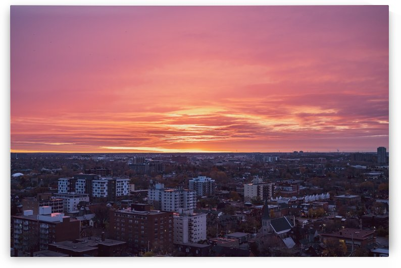 A City Sunrise by Brett P  May