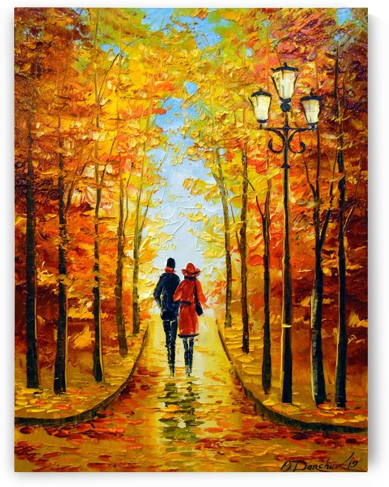 Autumn walk in the Park by Olha Darchuk