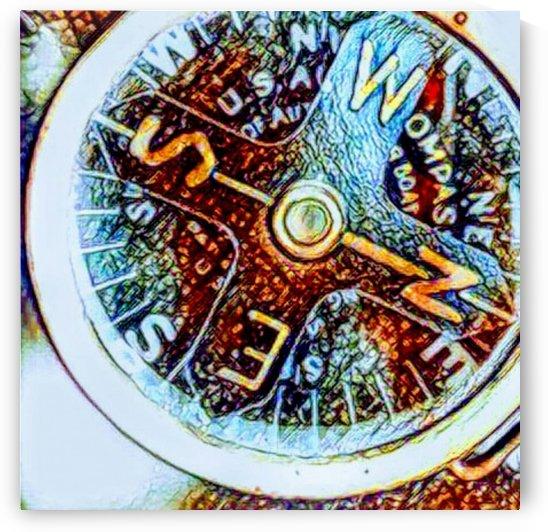off-set compass by Bratty ART