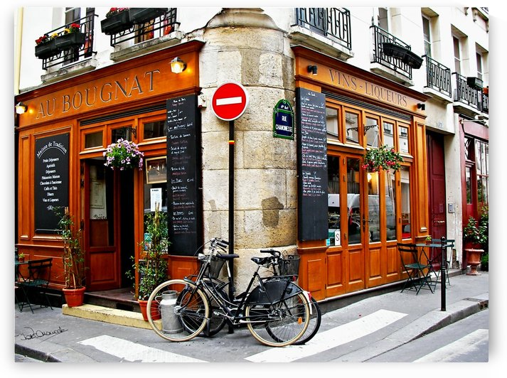 Paris Cafe Au Bougnat by Shadow and Form