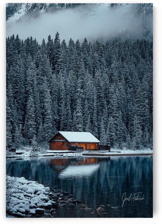Lake Louise Cabin by Joel Fabrick