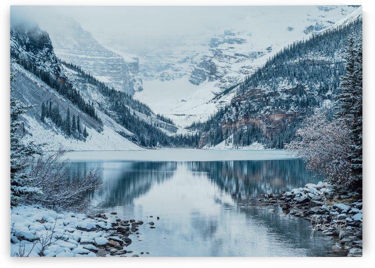 Lake Louise Fresh Snow by Joel Fabrick