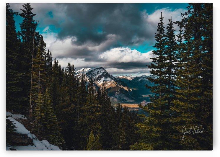 Cascade Mountain Through The Trees by Joel Fabrick