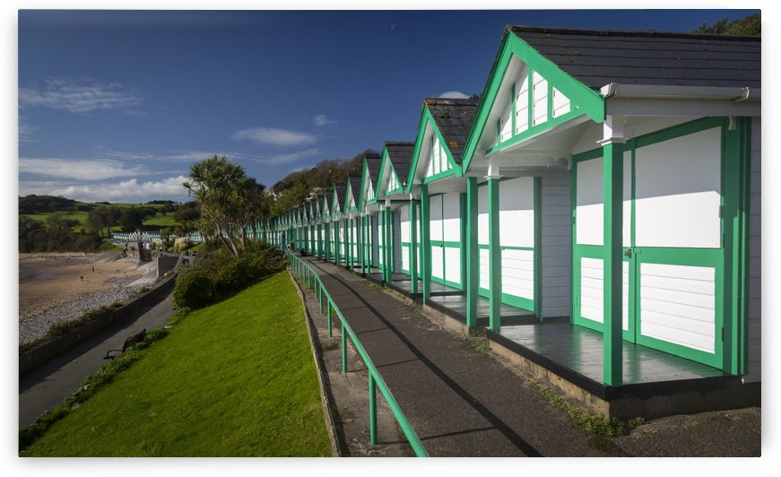 Langland Bay chalets by Leighton Collins