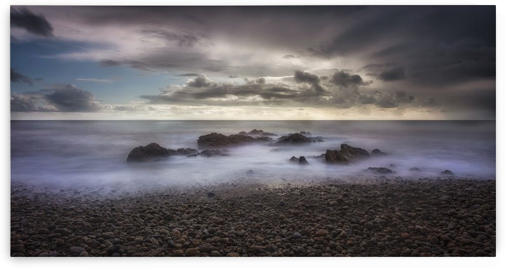 Stormy weather over Bracelet Bay by Leighton Collins