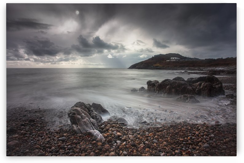 Storm clouds over Bracelet Bay by Leighton Collins