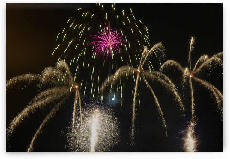 Firework display at Swansea by Leighton Collins